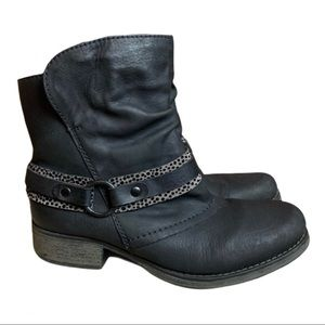 Rieker Sherpa Lined Size Zip Heeled Boots Size 39